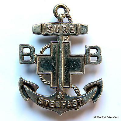 The Boys Brigade Three Year Anchor Badge - Silver Plated Sure & Stedfast