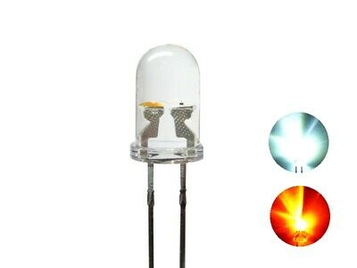 S665 10 pcs DUO LEDs 5mm Bi-Color white red clear Light changes