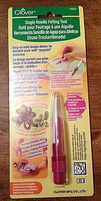 Clover Single Needle Felting Tool for wool felting - suitable for moulds