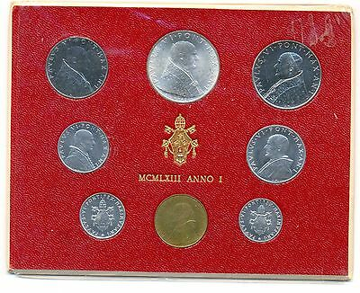 Vatican City Pontiff Paul VI Anno I Mint Set MCMLXIII 1963 UNC