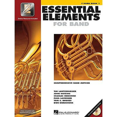 French Horn Essential Elements Learning Book Vol 1 with EEi CD ROM