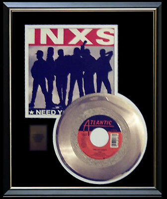 Inxs I Need You Tonight Rare Gold Record Disc & 45 Rpm Sleeve