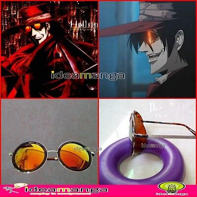HOT! HELLSING Alucard Vampire Hunter Tailored Cosplay Props Cosplay Sunglasses
