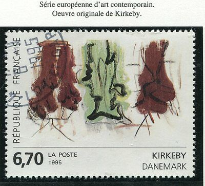 TIMBRE FRANCE OBLITERE N° 2969 TABLEAU KIRKEBY / Photo non contractuelle
