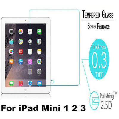 For iPad Mini 1 2 3 9H Premium Tempered Glass Film Cover Guard Screen Protector