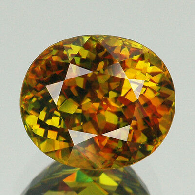 Beautiful Luster 8.86Ct Top Quality Yellow With 5A* Rainbow Spark Natural Sphene