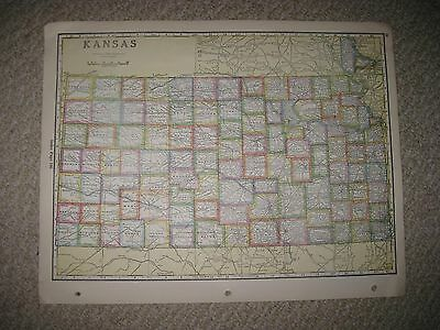 Antique 1928 Kansas Louisiana Highway Road Map New Orleans Railroad Detailed Nr