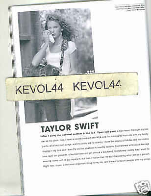 Taylor Swift Abercrombie & Fitch Catalog Fall 2004 14 Yrs Old Rare