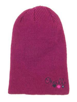 O'Neill Knitted Cap Beanie Solid Relax Wine Red Logo