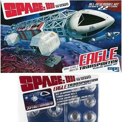 MPC 1/48 Space 1999 Eagle Transporter Plastic Model Kit w/ Deluxe Accessory Pack