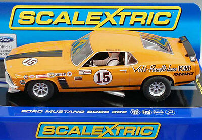 Scalextric Ford Mustang Boss 302 Trans Am 1969 Parnelli Jones Slot Car C3651