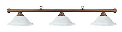 HJ Scott Autumn Rustic Bar/Alabastar Glass Shade Billiard Pool Table Light