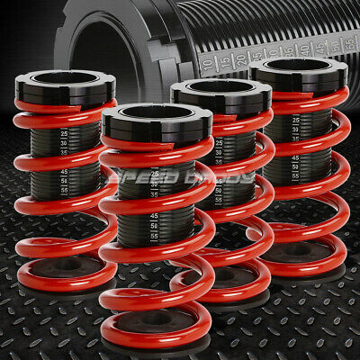 "0-3"" Adjustable Coilover Suspension Lowering Spring For 94-99 Celica T200 Red"