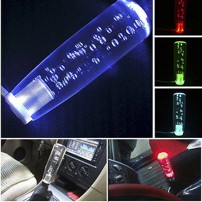 15 CM Universal Crystal Bubble LED LIGHT Shift knob Universal shifter shift gear