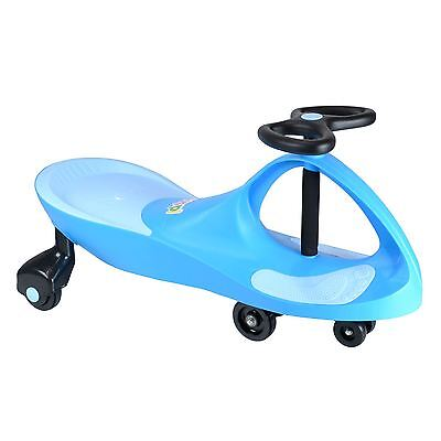 boppi Light Blue Wiggle Swing Car Ride On Swivel Scooter Gyro Twist & Go Kids