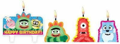 New Yo Gabba Gabba Molded Cake Candle Set  Party Favors Supplies 4 Candles