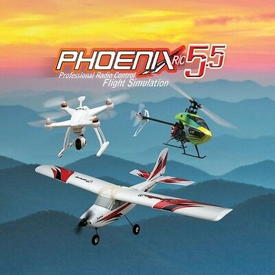 Phoenix R/C Pro Flight Simulator / Sim V5.5 Version w Adapter FOR Spektrum DX4e