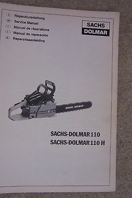 sachs dolmar 110 110h power chain saw service manual sachs dolmar rh picclick com Sachs Dolmar 116 Sachs Dolmar Parts Lookup