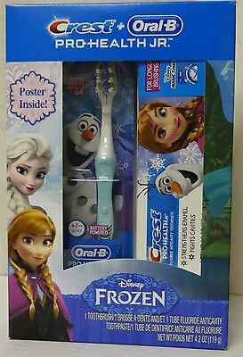 Crest + Oral-B Pro Health JR. Disney Frozen Toothbrush and Toothpaste w/Poster
