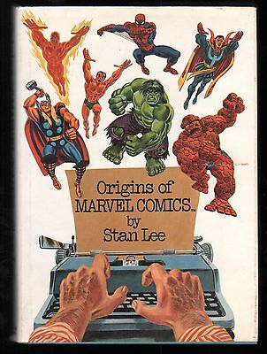 Origins of Marvel Comics Stan Lee Fireside Simon/Schuster 1974 Hardcover HC FN-
