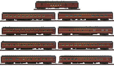 Walthers HO Scale Pennsylvania/PRR Broadway Limited 9-Car Deluxe Train Set #2