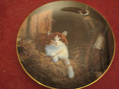 CAT AND JENNY WREN Collector Plate LOWELL DAVIS Schmid RARE Friends of Mine CATS