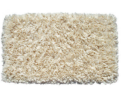 The Rug Market 02217A Handmade Rugs Shaggy Raggy Cream Off-white