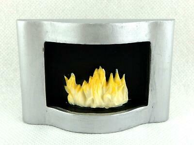 Dolls House Miniature Modern Resin Wall Mounted Flame Fire in Fireplace 1:12