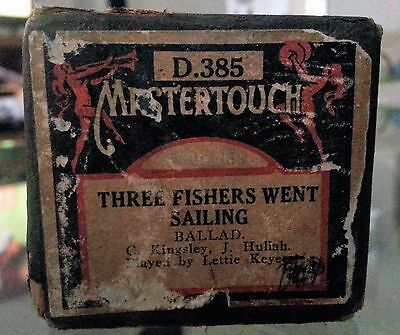 Vintage Mastertouch Pianola Roll Three Fishers Went a Sailing Ballad