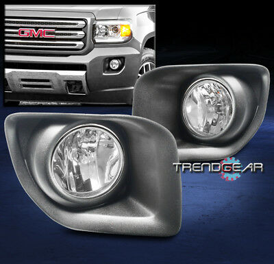 2010 2015 chevy equinox bumper driving fog lights lamps chrome w  2015 2017 gmc canyon truck front bumper fog lights lamps chrome w wiring harness
