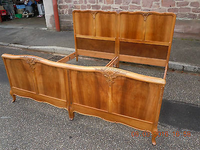 ANTIQUE FRENCH Louis Philippe walnut SUPER KING SIZE BED