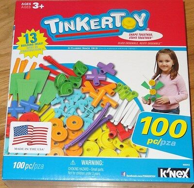 Tinker Toy 100 Piece Essentials Value Set Building COnstruction TinkerToy 56043