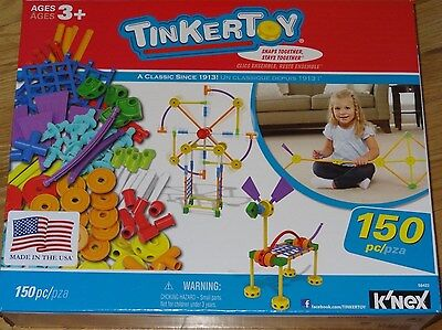 Tinker Toy 150 Piece Essentials Value Set Building Construction TinkerToy 56422