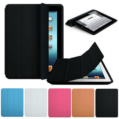 Lusso Sottile Stand Smart Case Pelle Cover Posteriore For Apple iPad 2 3 4 Hot
