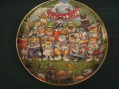 PURRFECT POPS Cat Collector Plate BILL BELL Fathers Day FRANKLIN MINT