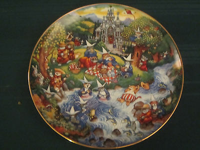 PURRFECT PICNIC Cat Collector Plate BILL BELL Cats FRANKLIN MINT