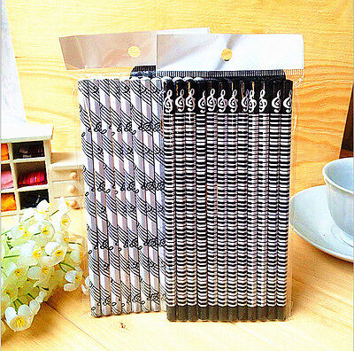 12pcs Music stationery note pencil piano pencil School Supplies Stationery V-57