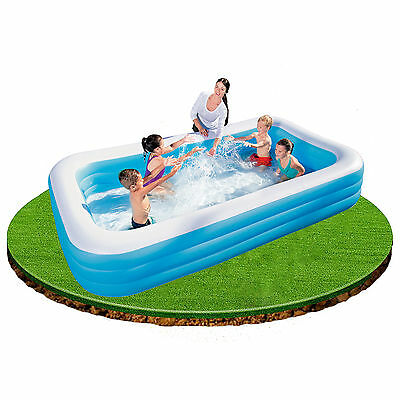 Bestway Deluxe Blue Rectangular Family Pool 3.05m x 1.83m x 56cm #54009