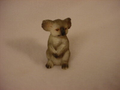 KOALA Figurine TiNY ANIMAL Statue HAND PAINTED MINIATURE Collectible Mini Bear