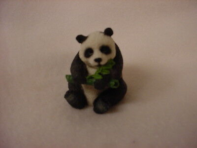 PANDA Figurine TiNY ANIMAL Statue HAND PAINTED MINIATURE Collectible Mini Bear