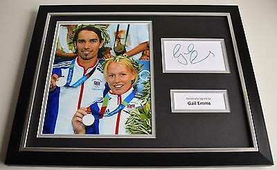 Gail Emms SIGNED FRAMED Photo Autograph 16x12 display Olympic Badminton & COA
