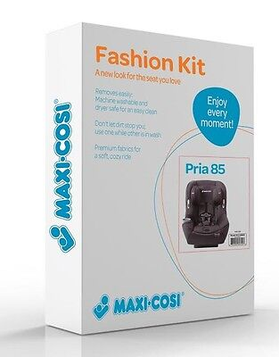 Maxi-Cosi Pria 85 Car Seat Replacement Pad & Fabric Set Devoted Black New!