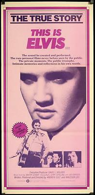 144 THIS IS ELVIS Australian daybill '81 Elvis Presley rock 'n' roll biography,