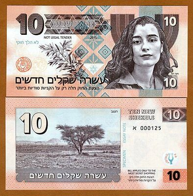 Israel, 10 New Shekels, Private Issue, 2015,UNC