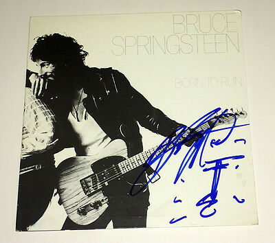 BRUCE SPRINGSTEEN The BOSS Autograph Signed BORN to RUN Album with SKETCH RARE!