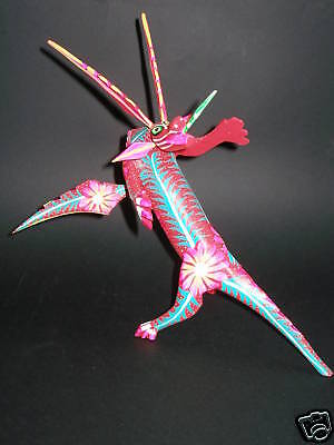 Alebrije Dragon Mexican Handpainted Woodcarving Figure Sculpture Folk Art Craft