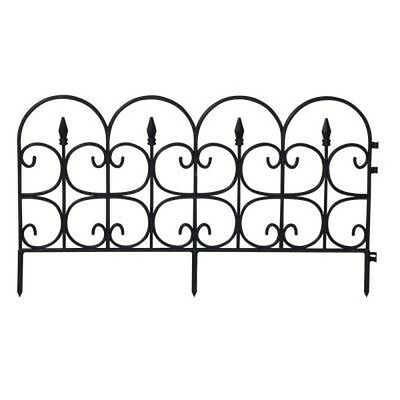 Emsco 26' Victorian Fencing - Medium, Poly Fence, Wrought Iron Look, 12 Pcs NEW