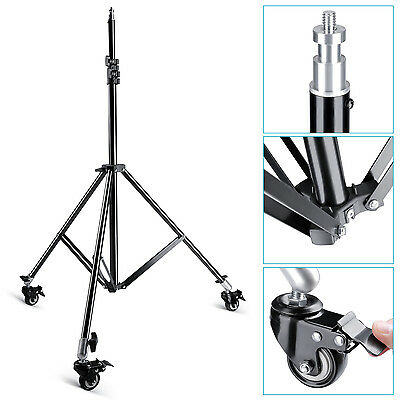 "Neewer Photo Studio Aluminum Alloy Heavy Duty 79"" Light Stand with Caster Wheels"