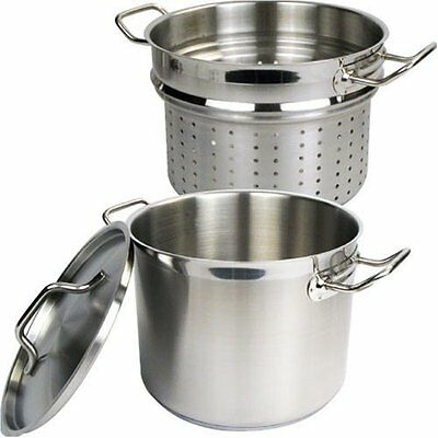 Winware by WinCo Stainless Steamer/pasta Cooker With Cover 16 Quart