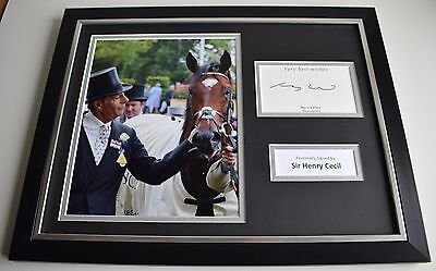 Henry Cecil SIGNED FRAMED Photo Autograph 16x12 display Frankel Horse AFTAL COA